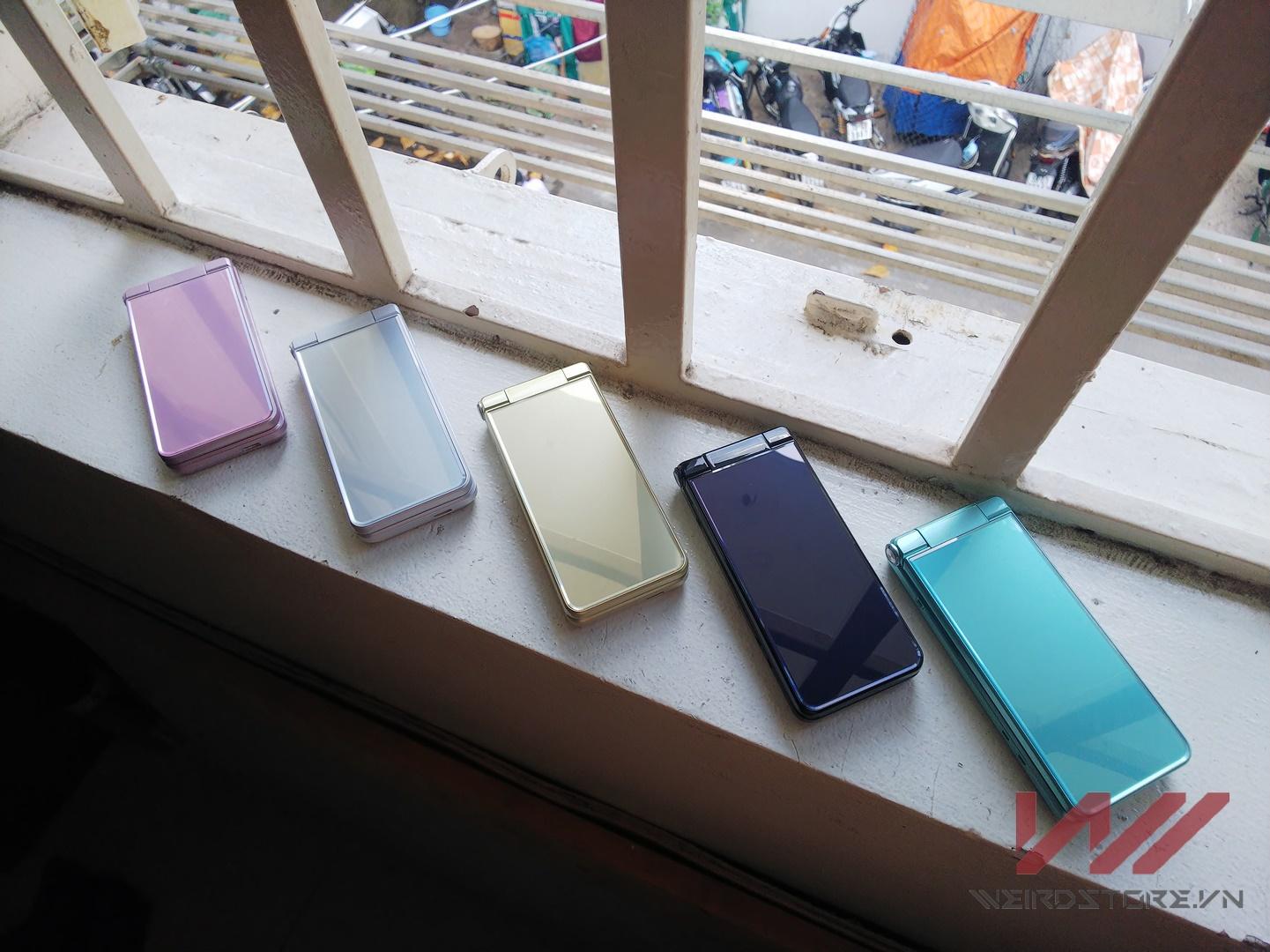 điện thoại nắp gập Nhật chạy android cực độc: Sharp 501sh, Sharp 601sh - 1